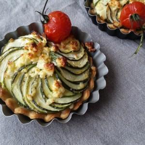 Tartelettes courgette feta 2